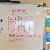 Class Warm Up 2